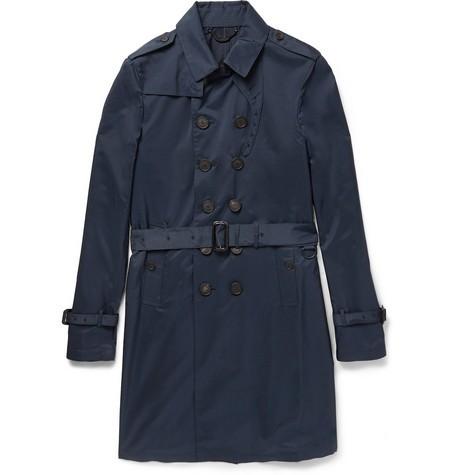 Lightweight Silk Trench Coat