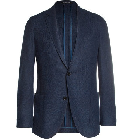 Slim-Fit Wool, Cotton and Cashmere-Blend Blazer