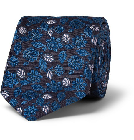Embroidered Woven-Silk Tie