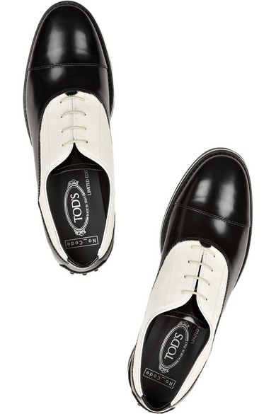 Calf hair and polished-leather brogues