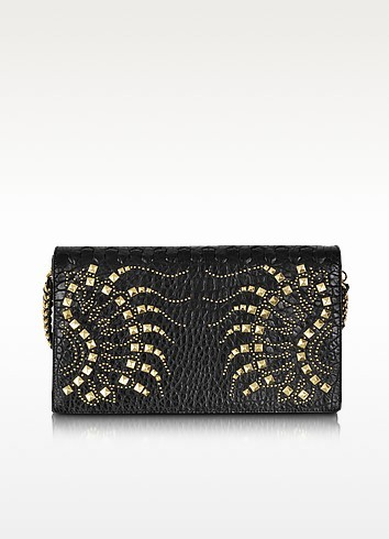 Regina Black Golden Studs Clutch