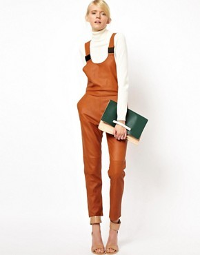 ASOS WHITE Overalls in Leather