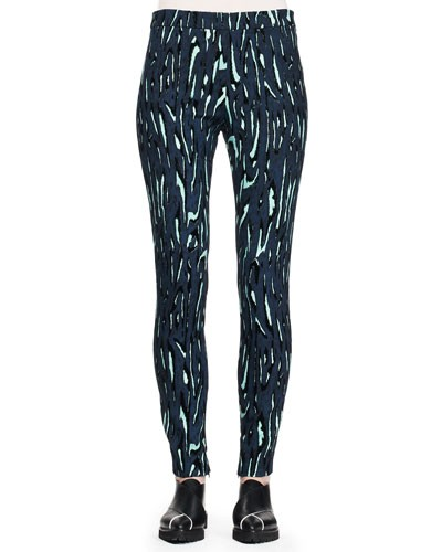 Proenza Schouler 				 			 		 		 	 	   				 				Printed Flocked Slim Pants
