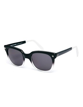 Sheriff & Cherry Wayfarer Sunglasses in Black Ombre