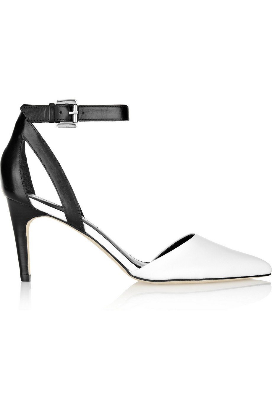 Saber two-tone leather pumps