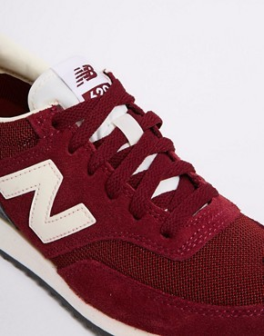 New Balance 620 Burgundy Sneakers