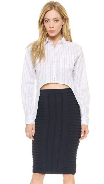 High Low Oxford Top