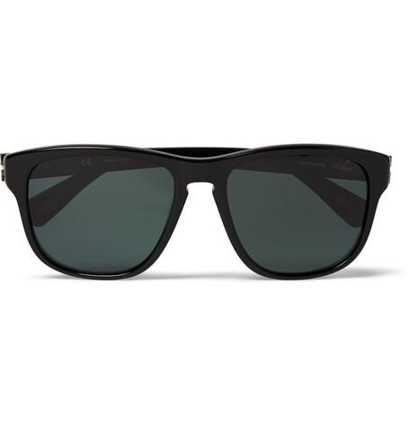 Polarised Square-Frame Acetate Sunglasses