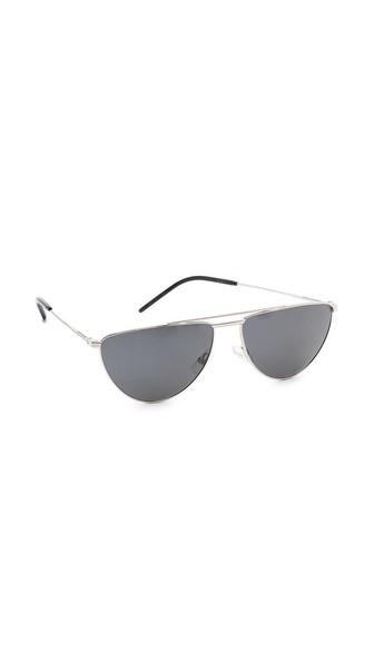 Flat Top Aviator Polarized Sunglasses