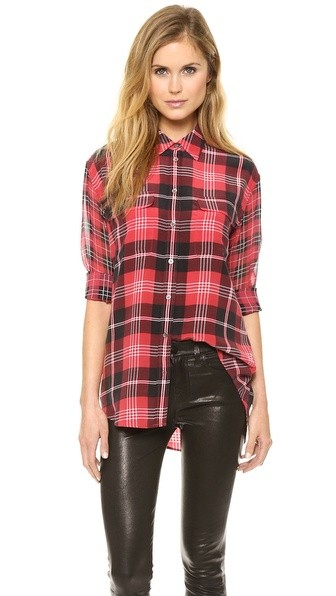 Signature Blouse with Contrast Sleeves