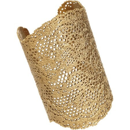 Gold Large Lace Cuff