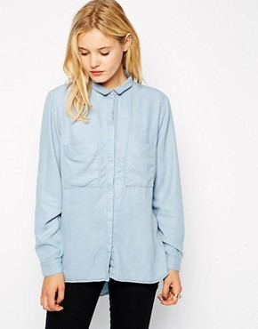 Just Female Shine Tencel Denim Shirt