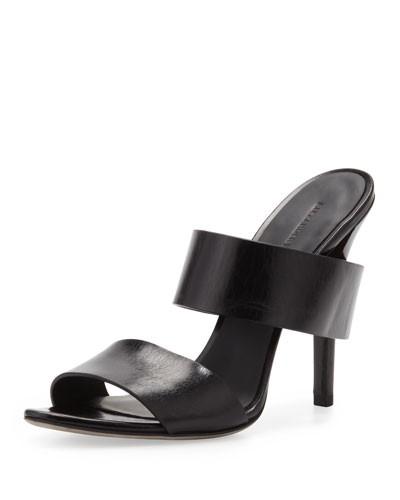 Alexander Wang          Masha Double-Strap Slide Sandal