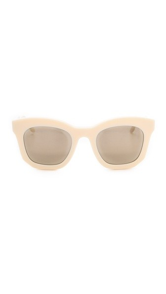 Mirorred Thick Frame Sunglasses