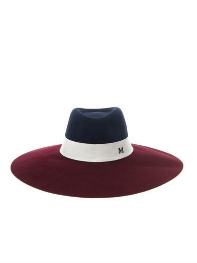 Fara bi-colour capeline hat