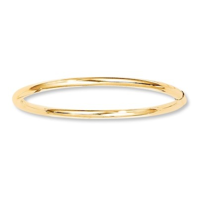 Jared Baby Bangle Bracelet 14K Yellow Gold - Bangle and Cuff