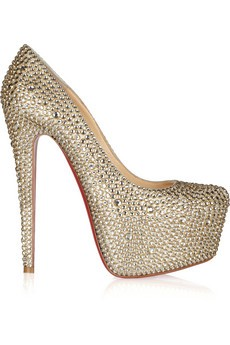 Daffodile 160 crystal-embellished suede pumps