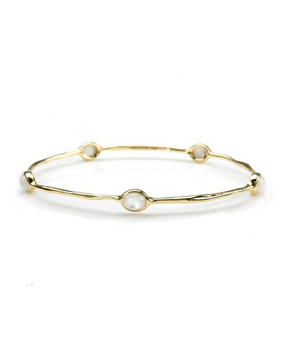 Ippolita 				 			 		 		 	 	   				 				18K Gold Rock Candy Lollipop 5-Stone Bangle in Mother-of-Pear