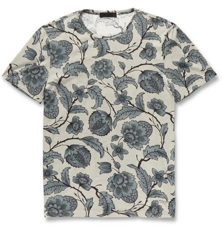 Printed Fine Cotton-Jersey T-Shirt