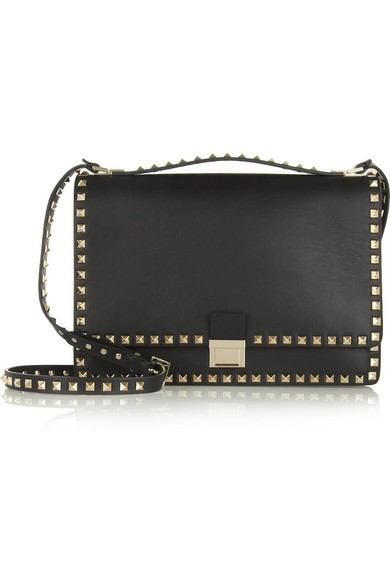 The Rockstud Flap leather shoulder bag