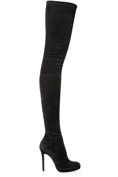 Louise XI 120 stretch-suede over-the-knee boots