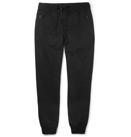Loopback Cotton-Blend Jersey Sweatpants