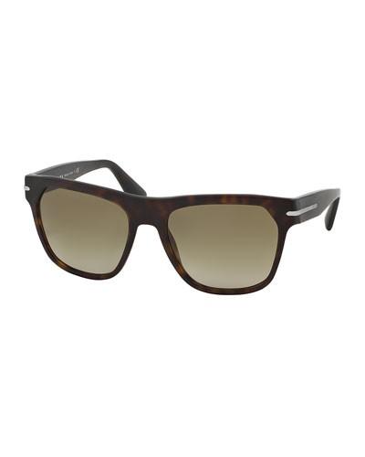 Prada          Square Acetate Sunglasses, Havana