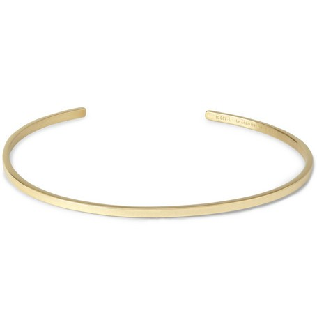 Le 7 Polished Yellow Gold Cuff