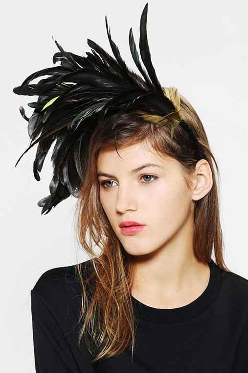 Katie Burley Millinery Midnight Flight Feather Headband