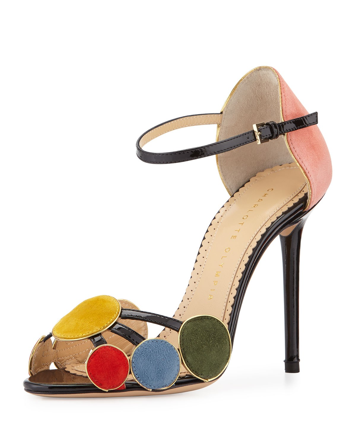 Contemporary Suede Circle Sandal, Multi - Charlotte Olympia