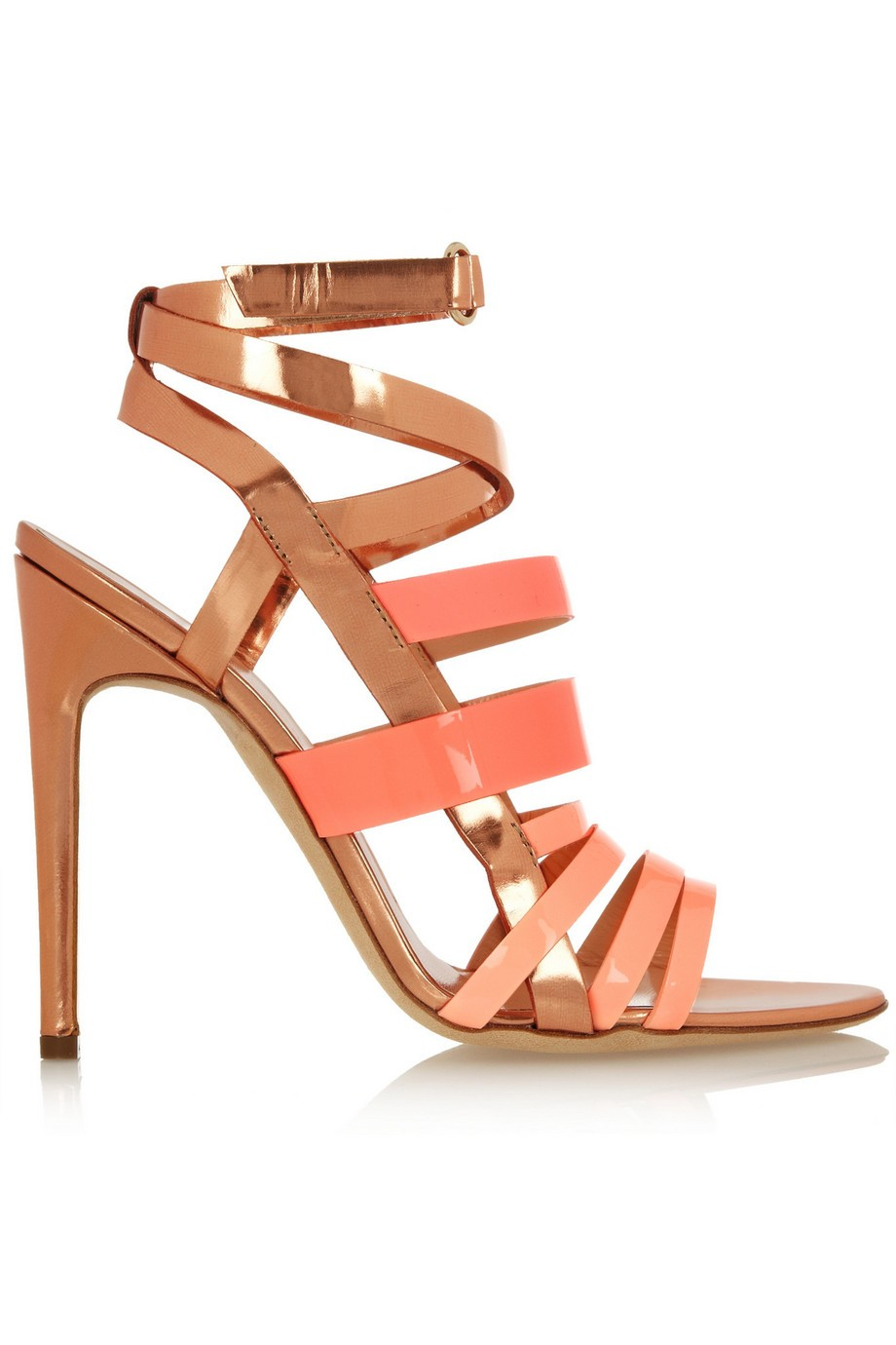 Rupert Sanderson Tallyho metallic leather sandals