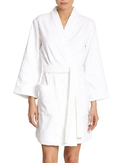 Embossed-Terry Short Robe