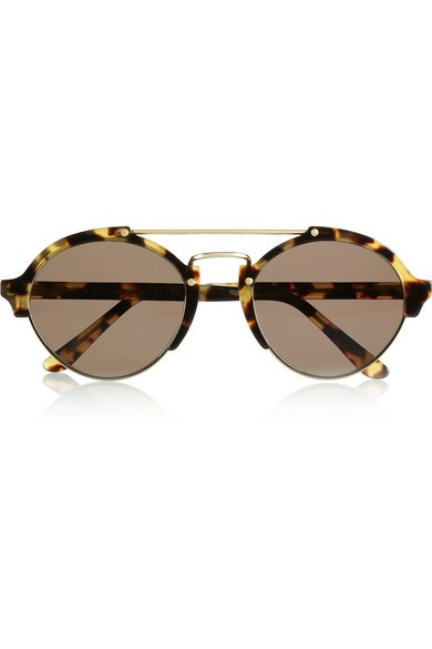 Milan II aviator-style acetate and metal sunglasses