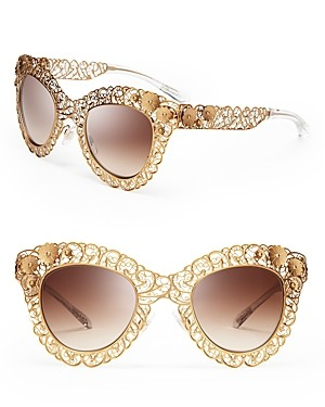 Dolce&Gabbana Floral Filigree Cat Eye Sunglasses