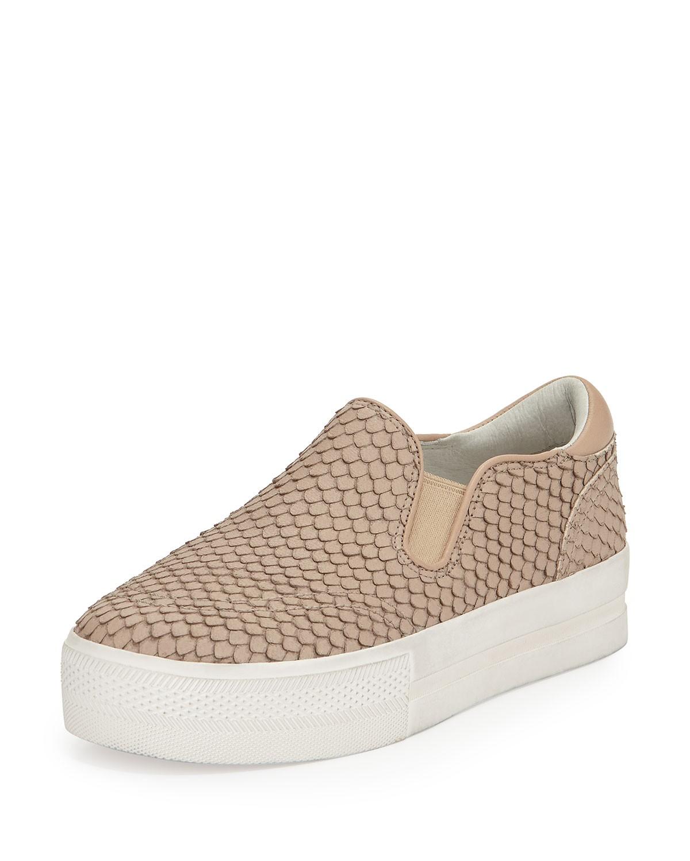 Jungle Snake-Print Slip-On Sneaker - Ash - Brown pattern (10B)