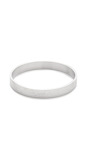 Moon Engraved Bangle Bracelet