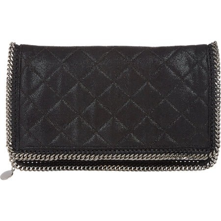 Quilted Falabella Foldover Clutch