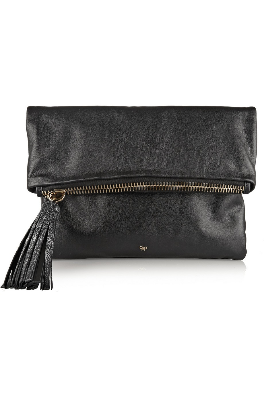 Huxley fold-over leather clutch
