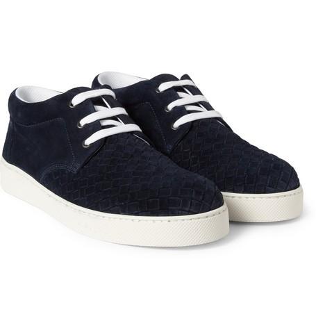 Intrecciato Suede Sneakers