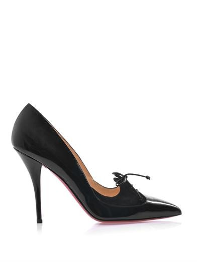 Queue de Pie patent leather pumps