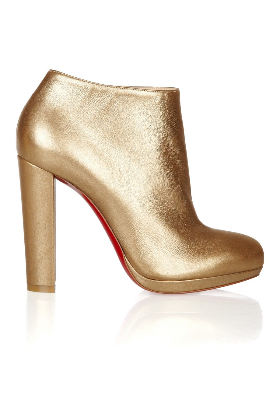 Rock & Gold 120 metallic leather ankle boots