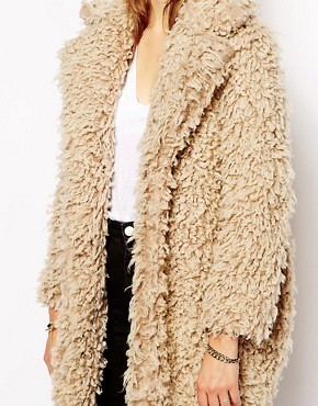 Supertrash Odyssey Coat in Fluffy Faux Fur