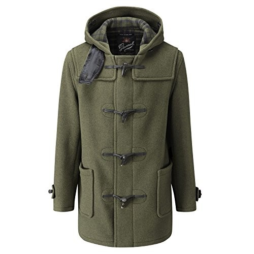 Gloverall Mid Length Duffle Coat Kale 42