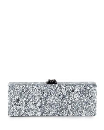 Women's Edie Parker Flavia Confetti Acrylic Clutch Bag, Silver