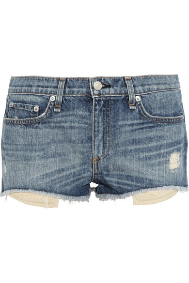 Mila distressed denim shorts
