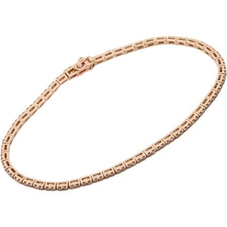 Champagne Diamond & Rose Gold Tennis Bracelet