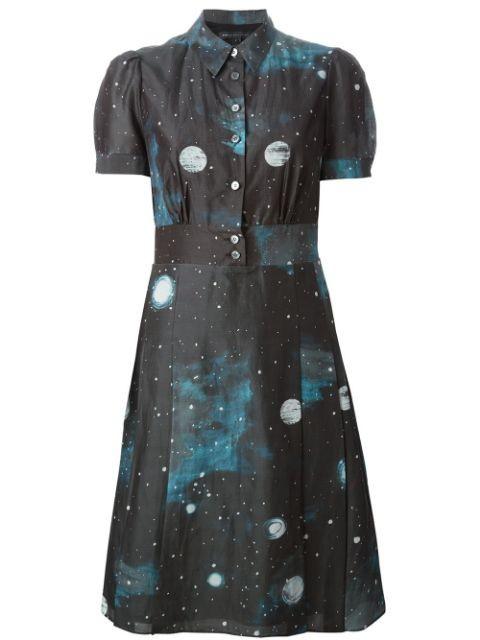 Stargazer Printed Cotton Dress