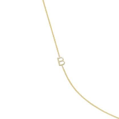 Maya Brenner® 14k gold asymmetrical letter necklace