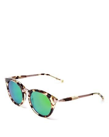 WILDFOX Sunset Combo Round Mirror Sunglasses