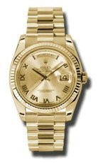 Rolex Day-Date Automatic Champagne Roman Dial President Mens Watch #118238CRP
